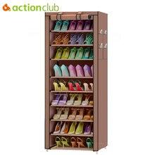 Actionclub 10 Hai Lớp Đơn Giản Oxford Giày Tủ Lưu Trữ TỰ LÀM Lắp Ráp Kệ Giày Chống Bụi Moistureproof Giày Công Suất Lớn Giá