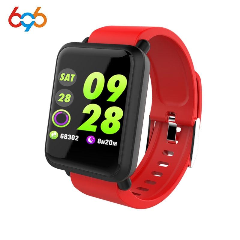 696 impermeable M28 pulsera inteligente pulsera Monitor de sueño de ritmo cardíaco tracker actividad Tracker presión arterial Monitor para Android iOS