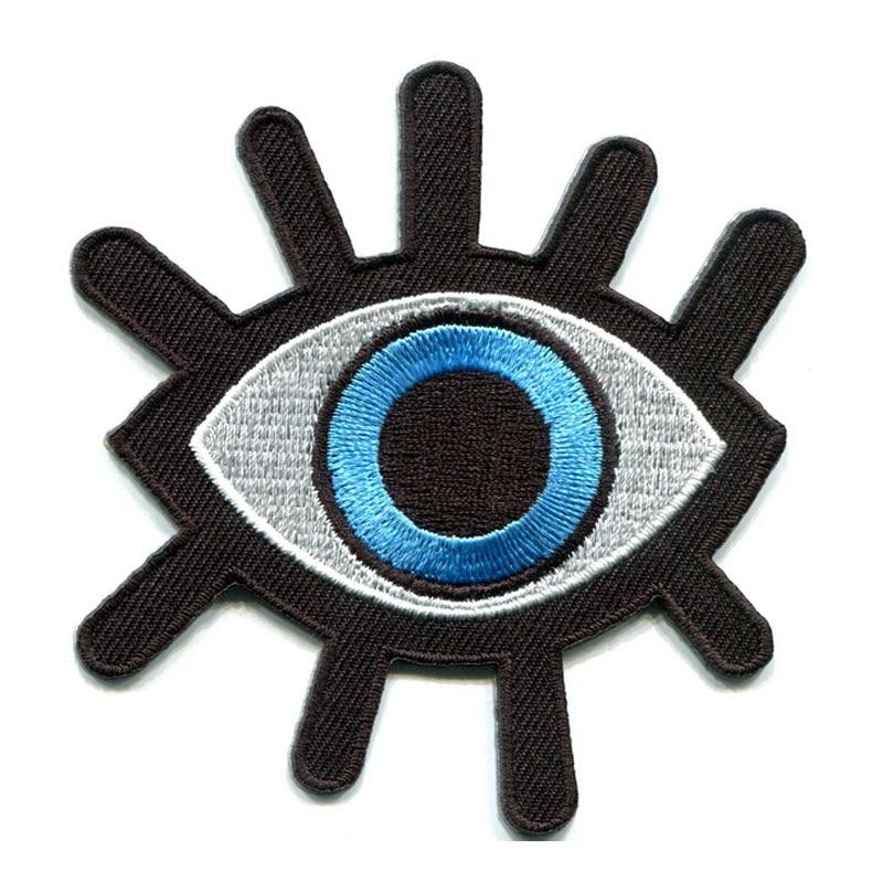 Orange Eyeball Eye Wicca Goth Skateboard Tattoo Biker Punk Iron on Patches SA026