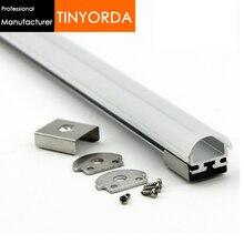 Tinyorda 100Pcs (2M Length) Alu Led Profile  Channel Profil for 13mm LED Strip Light [Professional Manufacturer] TAP1815