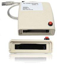 USB 2.0 para 68 Pin ATA PCMCIA Leitor de Cartão de Memória Flash Disk Adapter Converter Para Windows
