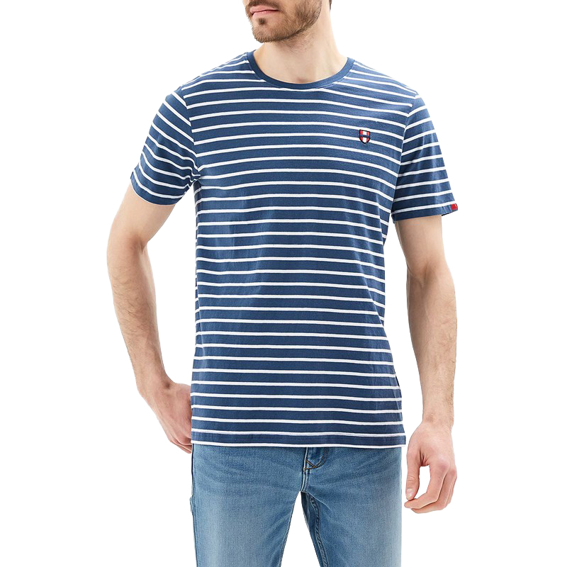 T-Shirts MODIS M181M00192 t shirt shirt cotton for male TmallFS zigzag single pocket t shirt