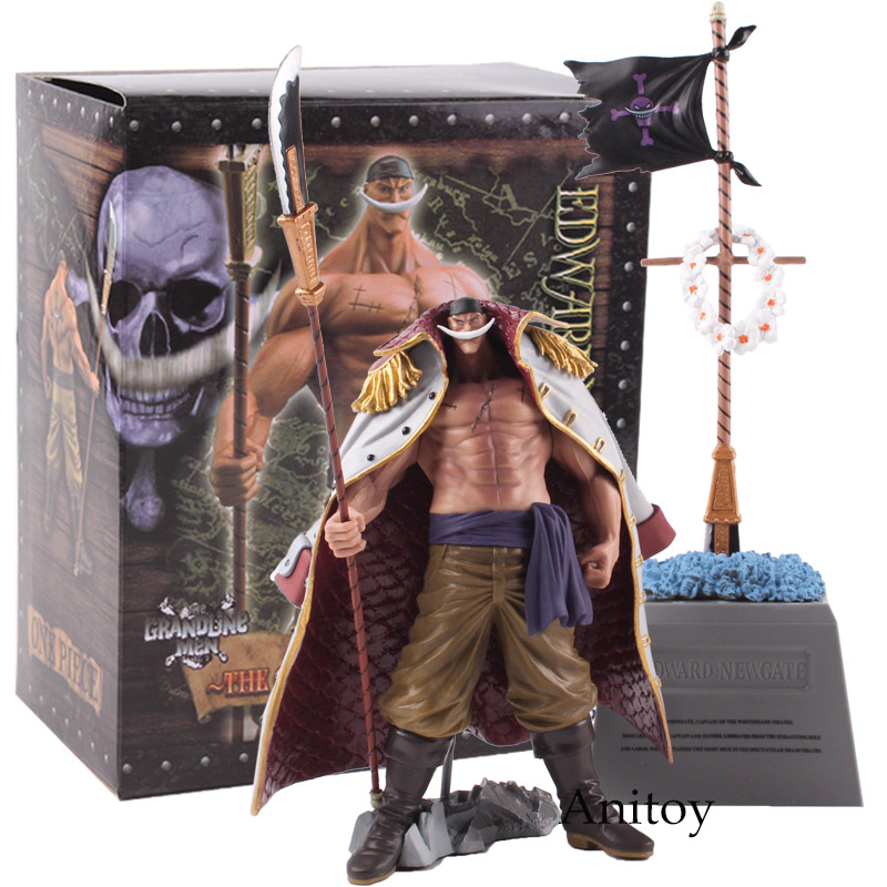 DXF One Piece Figure The Grandline Men Special Whitebeard Edward Newgate & Gravestone PVC Action Figure Collectible Model Toy цена