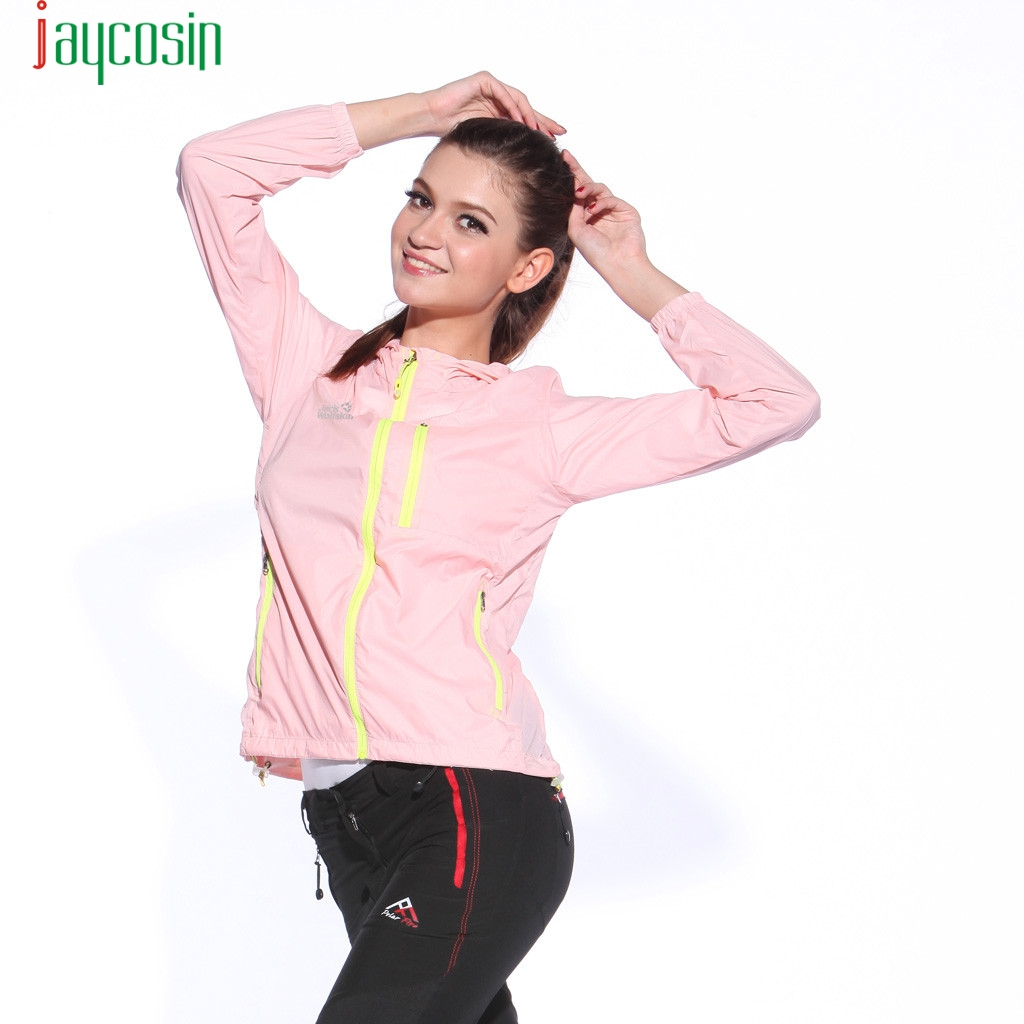 JAYCOSIN Jacket Fashion Windproof Women Solid color Outwear coat Women Zipper Casual Sport Jackets Pockets Long Sleeve Outwear