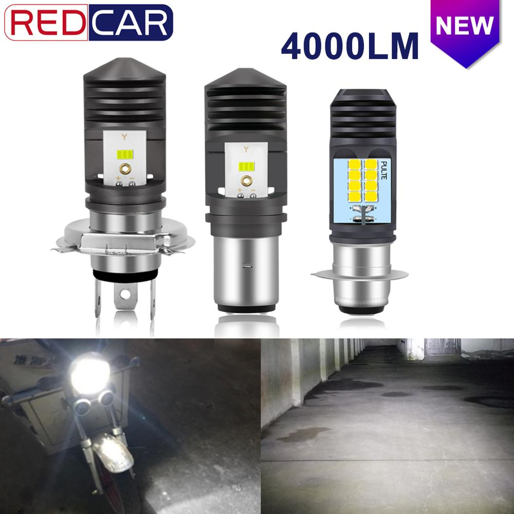 H4 Led Motorcycle H6 BA20D Led P15D H6W Canbus 4000LM Headlight Bulbs Moto Lights Hi Lo Beam Motorbike Fog Lamp 12V 24V 6000K