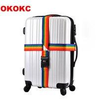 4m uzun Çapraz valiz kayışı Kemer Bavul Güvenli Kilit Güvenli Kemer Kayışı Seyahat/Ev Aksesuarları