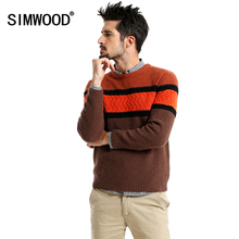 Simwood Sweater Men 2016 New Arrival Brand Autumn Winter Fashion O-neck Slim Casual Knitted Pull Homme Free Shipping Plus Size