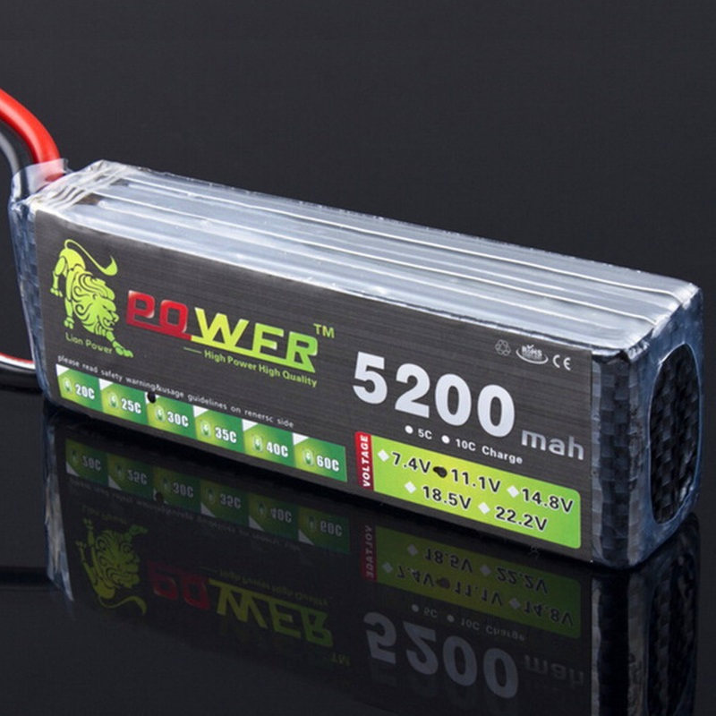 LION POWER <font><b>11.1v</b></font> 1500mAh <font><b>2200mah</b></font> 2800mah 3000mah 4200mah 5200mah <font><b>lipo</b></font> battery T/XT-60 for RC helicopter/car/boat toys 3s battery image