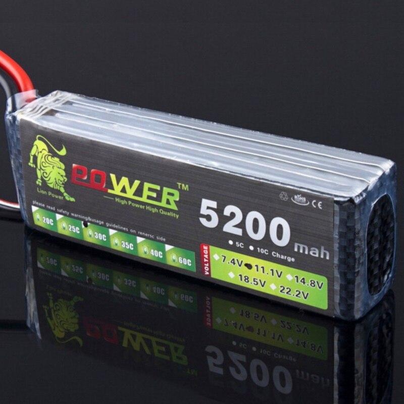 León potencia de 11,1 V 1500 mAh 2200 mAh 2800 mAh 3000 mAh 4200 mAh 5200 mAh batería de lipo de T/ XT-60 para RC helicóptero/coche/barco juguetes 3 s batería