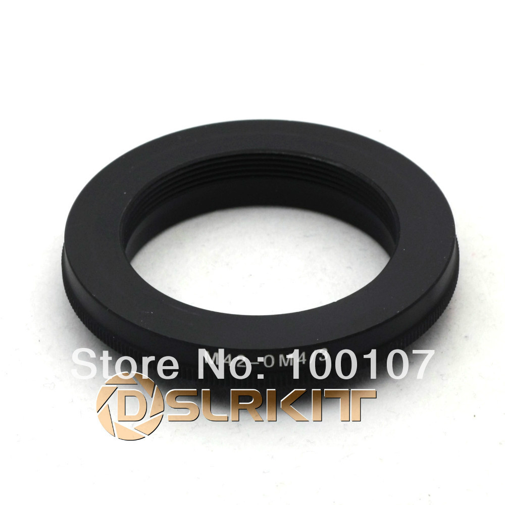 Lens Mount Adapter Ring for M42 lens and Olympus OM 4/3 adapter / focus to infinite