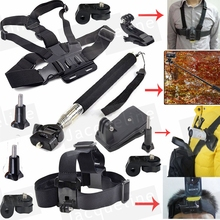 Kit Accessories Chest Strap+Head Monopod Clip Mount for Sony Action Cam FDR-X1000V W 4K HDR-AS30V HDR-AS100V HDR-AZ1 AS30 AS15