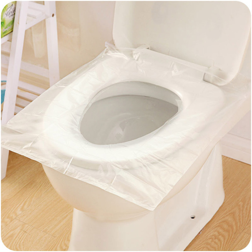 12Pcs Universal Toilet Disposable Sticker Toilet Seat Cover Business Travel Stool Set  health and safety A1 toilet seat