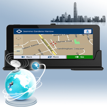 CARRVAS Android 5.0 Navigation 3G 4G For Car 6.86 inch Android GPS Navigator Support WiFi Bluetooth G-Sensor AM FM 1280*480