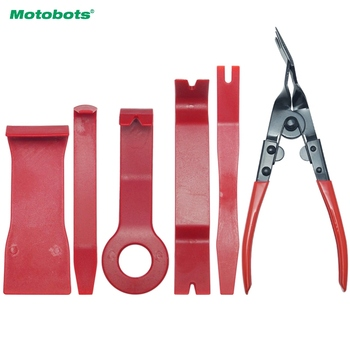 MOTOBOTS 10set 6pcs/set Automobile Stereo Interior Cleaner Door Panel Trim Dashboard Removal Opening Pry Plier Tool Car Repair