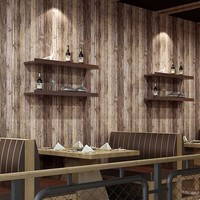 53CM×9.5M 3D Faux Vintage Plank Panel Wallpaper Wall Mural for Livingroom Bedroom Kitchen