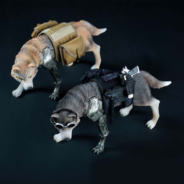 Mnotht Toy 1:6 Scale Solider Scene Wolf of war 1/6 Black Wolf Figure Fighting Wolf W Hanging Accessories l30 art of war