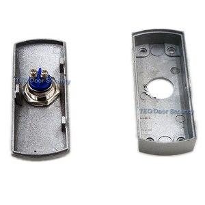 Image 3 - Botón de salida de puerta, Placa de Aleación de liberación, botón de acero, interruptor montado en superficie de 12 V 36 V para todo tipo de marco de puerta estrecha