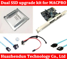 New Dual SSD upgrade kit for MAC PRO 1.1-5.1 inclued (dual ssd tray/ sata cable/ sata3 card /SATA3.0 Hard Disk Data Cable)