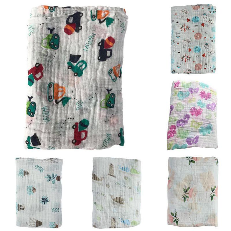 лучшая цена Spring Baby Muslin Swaddle Cotton Infant Swaddle For Babies Blanket newborn photography blankets Hot