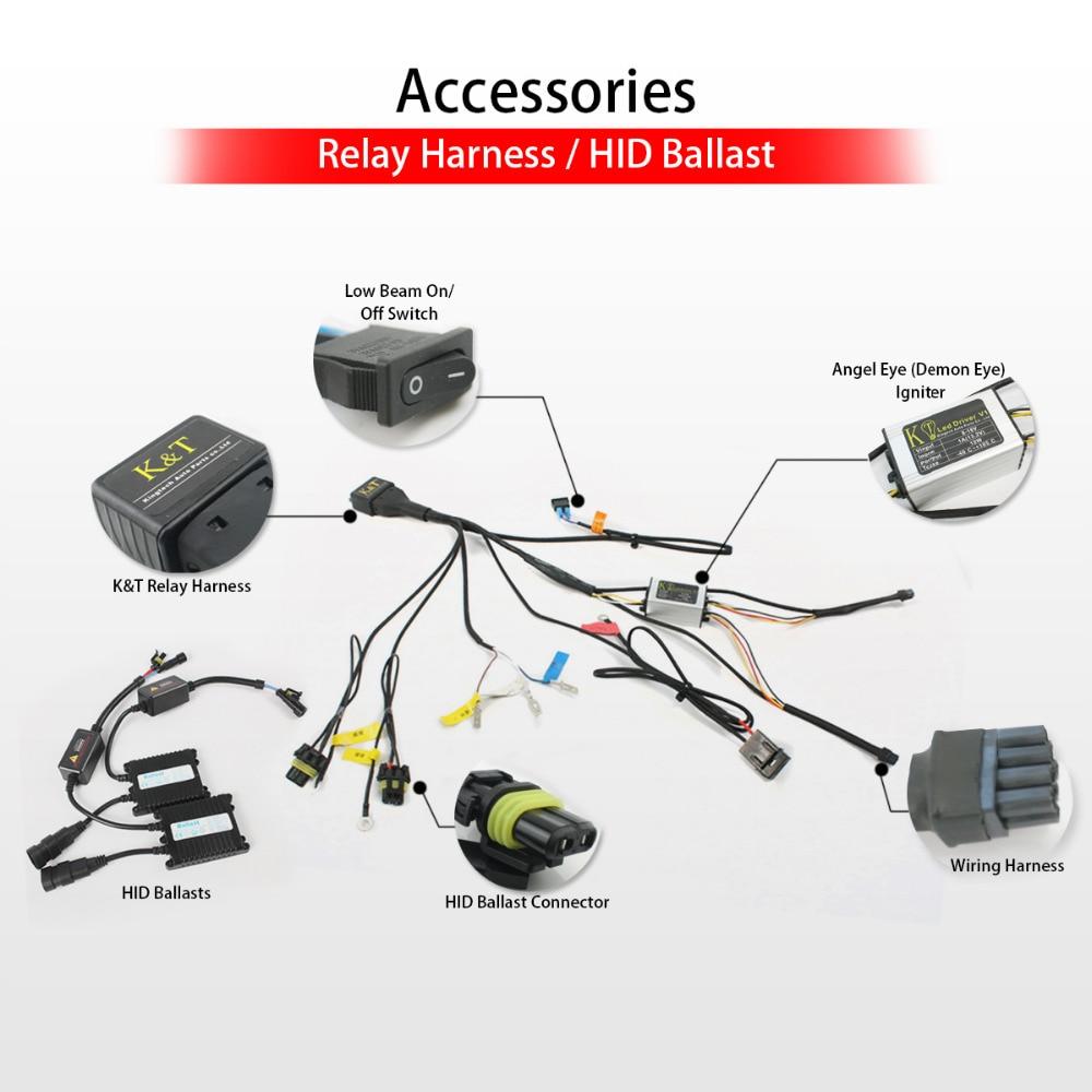hight resolution of kt headlight for suzuki gsxr1000 gsx r1000 2000 2002 led angel eye hid conversion kit wiring diagram r6 hid lights wiring diagram