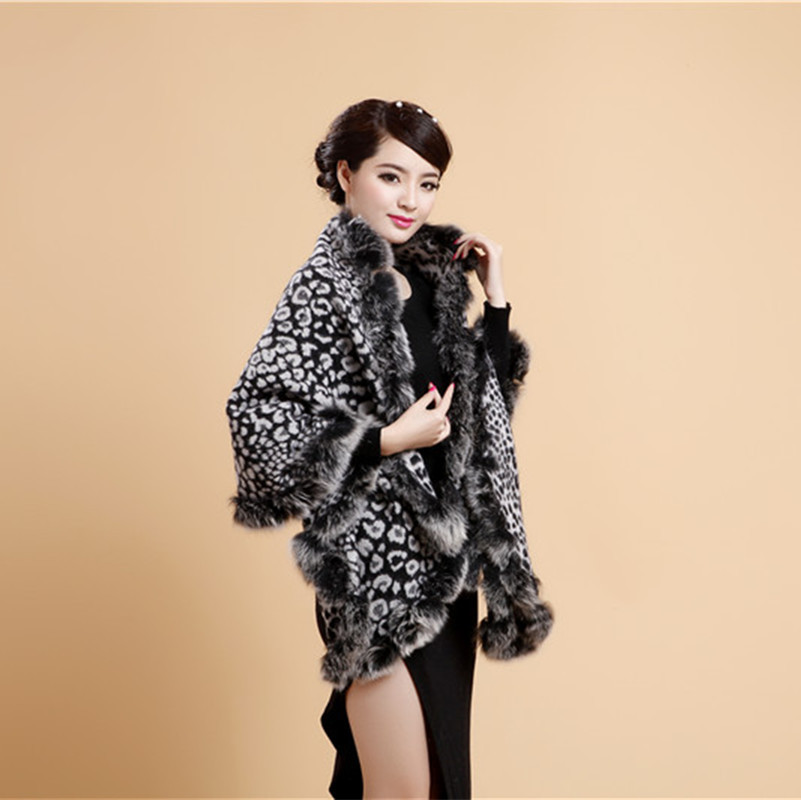 Winter New Shawls Women Cape Shawl 100%Wool Pashmina Thick Lady Bufanda Fox Fur Echarpes Large Size   Scarf   Lady   Scarves     Wrap