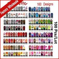 Hundreds Designs Nail Art Water Decals 100sheets DIY Flowers Cartoons Nail Accessories Nail Transfer Foils Stickers