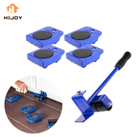 Home Trolley Lift And EZ Move Slides Kit Easily System For Heavy Furniture 4 PC Rollers