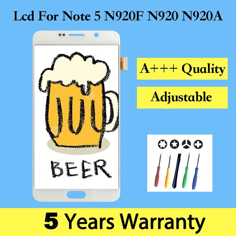 5.5 pouces Lcd pour Samsung Note 5 N920F écran or/blanc/bleu affichage pour Samsung Galaxy Note 5 Lcd Ekran tactile avec cadre