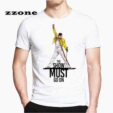 Freddie Mercury The Queen Band T-Shirt Mens Hip Hop Rock Hip