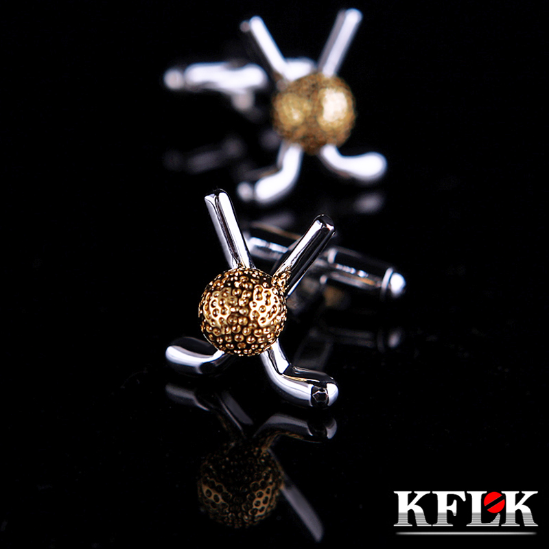 KFLK Jewelry French shirt Fashion cufflink for mens Brand Golf shape Cuff link Wholesale Button High Quality Free Shipping