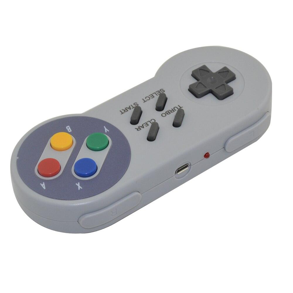 Xunbeifang 10 pcs Estilo Botão Controlador Sem Fio Gamepad para SNES mini console com turbo e clara função - 3