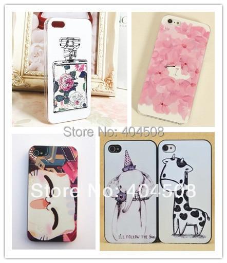 perfume bottle mobile case Giraffe elephant animal coloured cell phone case for iphone 4 4S 5 5s hard back cover shell skin