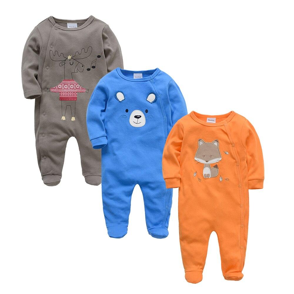 Kavkas Baby Rompers Fox Theme Animal Clothing Set Winter Boys Clothes Boys Foot Overalls Newborn Infant Jumpsuit Navidad