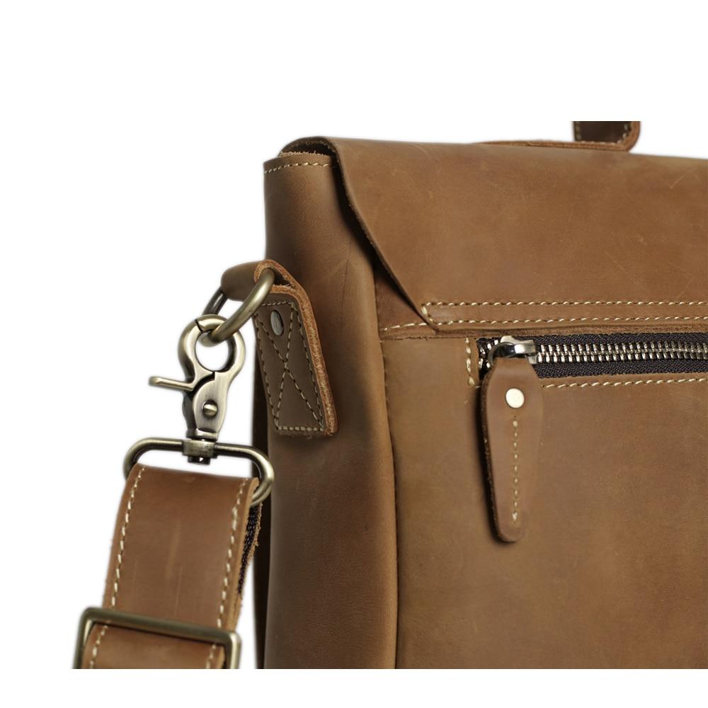 ROCKCOW Laptop supë çanta prej lëkure origjinale, qese crossbody, - Çanta dore - Foto 5