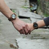BOBO BIRD Lover Watches Wooden Luxury Clock Business Timepieces With Auto Date Wood Watch Box Relogio Feminino Masculino J P1819