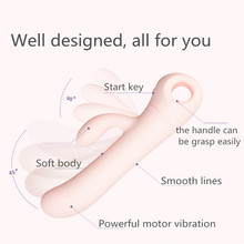 Silicone Rabbit Clitoris Dual-Head Electric Vibrator For Women