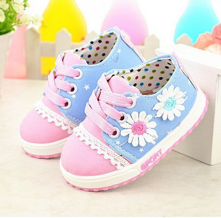Autumn/Spring Infant Girl Baby Shoes Kids Baby First Walker Soft Bottom Shoes Child Breathable 0-1 Toddler Shoes Lace Shoes