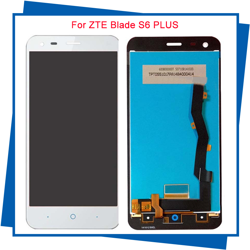 ФОТО For ZTE Blade S6 Plus Original Quality LCD Display With Touch screen digitizer touchscreen panel sensor lens glass Assembly Free