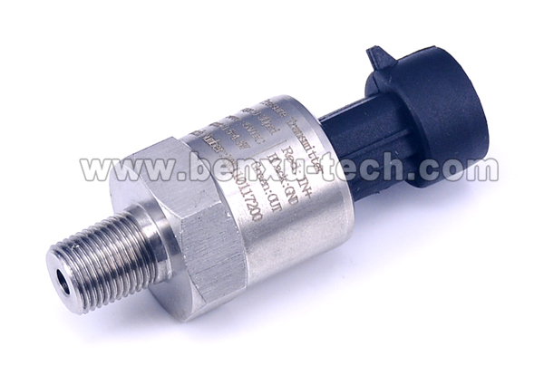 0.3m Cable,10bar,12VDC,1-5V,NPT1/8 Import Ceramic Pressure Sensor Transmitter for Oil Fuel Diesel Air Gas Water Pressure
