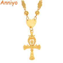 Anniyo Cross Pendant Necklaces Marshall Gold Color Hawaii Polynesia Guam Micronesia Jewelry Birthday Party Gifts #168106 anniyo micronesia jewelry sets with stone pendant earrings round ball beads chain necklaces marshall jewellery guam 124506s