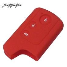 Jingyuqin Силиконовый ключ чехол для Honda Civic дистанционного смарт защитный чехол держатель