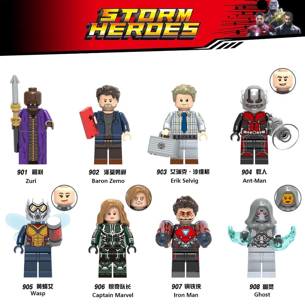Marvel Loki Мстители Бесконечность войны ОСА капитан человек паук муравей доктор странная модель строительные блоки игрушки Фигурки