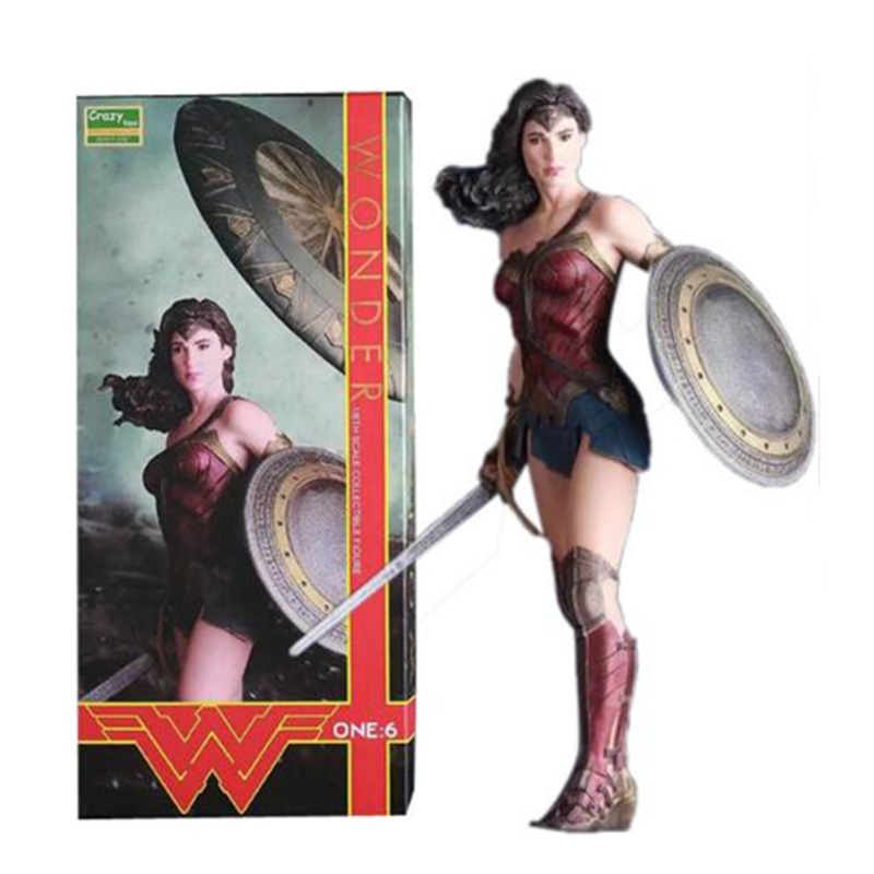 цена Crazy Toys Figure Batman v Superman Dawn of Justice Wonder Woman PVC Action Figures Collectible Model Toy 12