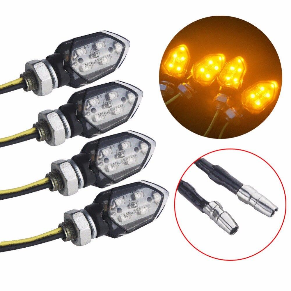 2Pcs/Lot Universal Motorcycle Turn Signal Indicator Light Bulb Amber For Honda Kawasaki Suzuki Yamaha Flasher Lamp