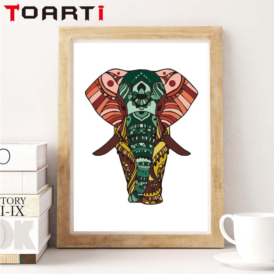 New Design Indian Elephant A4 Art Canvas Art Print Painting Poster Wall Pictures For Living Room Home Decoration