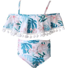 Mother And Daughter Print baby swimsuit for girls Two Piece Swimsuit Matching Swimsuit Clothing JAN18(China)