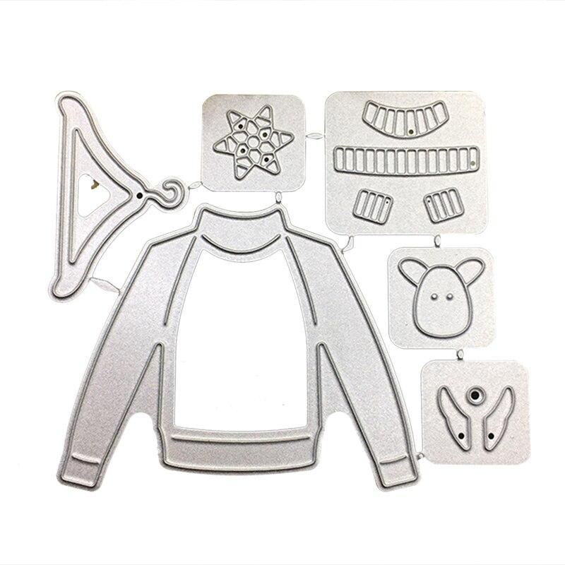 6Pcs Lot 2018 New Metal Cutting Dies Christmas Ornament Hanger ... 51d37c42f7ec