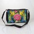 Китайский Этническая национальный Винтаж Вышивка сумка Ручной Работы вышитые плеча сумку молния сумки Путешествия Femme Bolsos