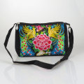 Chinese Ethnic national Vintage Embroidery bag Handmade embroidered shoulder messenger bag zipper Travel handbags Femme Bolsos