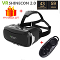 VR Shinecon 2.0 2 II Helmet Virtual Reality Goggles Headset Google Cardboard 3D Video Glasses 3 D Vrbox Smartphone with Gamepad